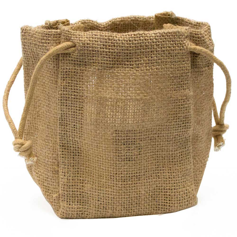 Jute Drawstring Bag Medium