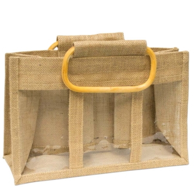 Three Window Jute Bag Tall