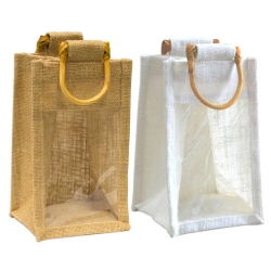 Jute Gift Bag With Window
