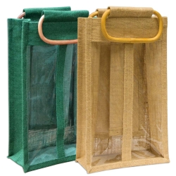 Two Bottle Jute Bag