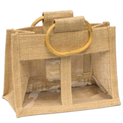 2 Window L Jute Bag