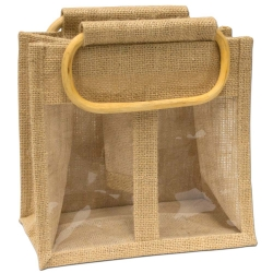Jute Two Window Bag