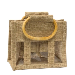 Mini 3 Window Jute Gift Bag
