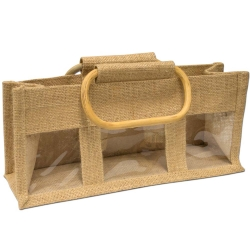 3 Window Jute Bag