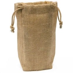 Medium Jute Drawstring Bag
