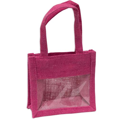 Jute Mini Bag Small With Window