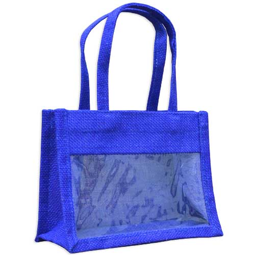 Jute Mini Bag Medium With WIndow